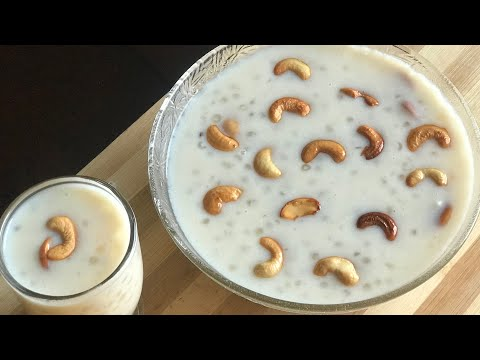 Sabudana kheer recipe saggubiyyam payasam Recipe sago kheer recipe