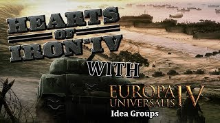 Hearts of Iron 4 - Random nation placement mod and Eu4 national ideas mod - Austria!
