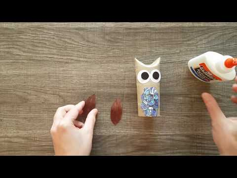 Craft: Toilet Paper Roll Owl
