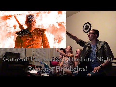 Game Of Thrones 8x3: The Long Night Reaction Highlights!