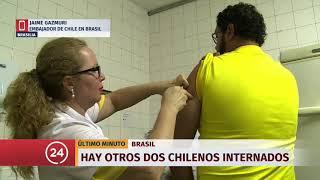 Confirman otros dos casos de chilenos con fiebre amarilla en Brasil