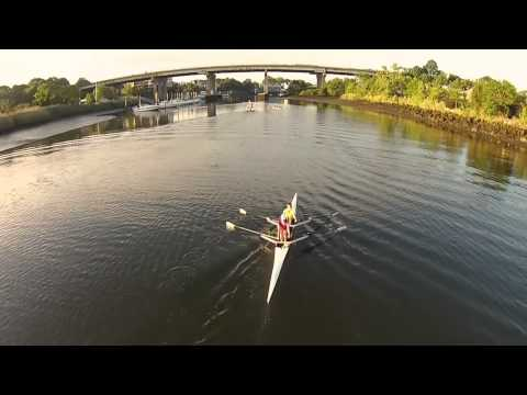 Rowing on the Norwalk River