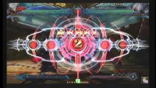 (Excerpt) BBCP 1/25/2013 Kohatsu - Ribaia (Ragna) VS Den (Bang)/Tenchi (Hakumen)