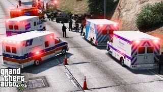 GTA 5 Play As A Paramedic Mod 38 | New York City EMS Ambulance Pack | Major Accident On The Highway