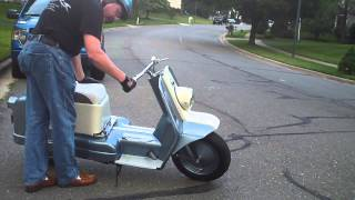 Riding a 1960 Harley Davidson Topper