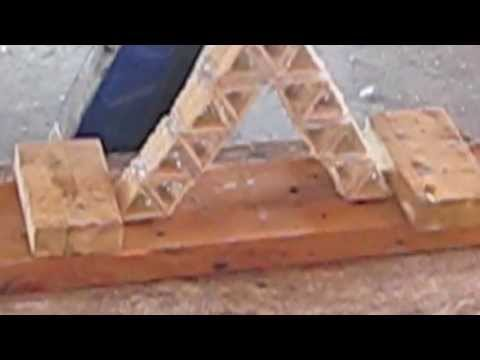 Toothpick Bridge Holds Over 10 000 Ibs Youtube