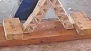Toothpick Bridge Holds Over 10,000 Ibs!!