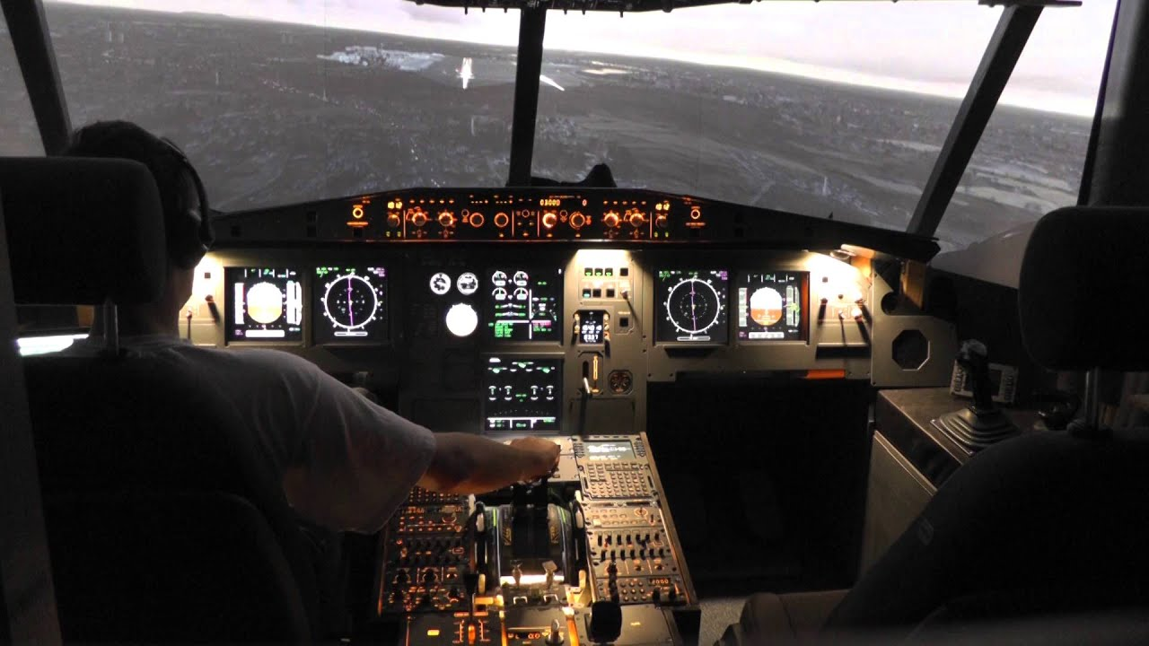 A320 home cockpit landing at d sseldorf eddl rw 23l for B b com