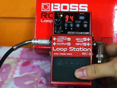 Boss LoopStation Rc-3 Rythm & Backing Track