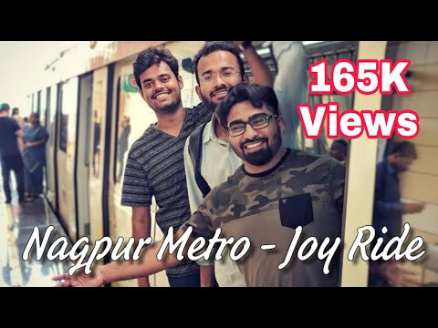 Nagpur Metro - Joy Ride || My First Metro Ride in Nagpur