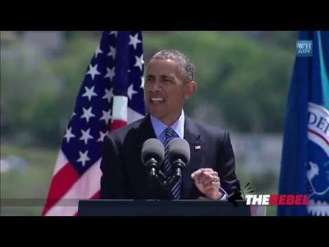 "Obama tells Coast Guard: ""Climate change"" helped create Muslim terror"