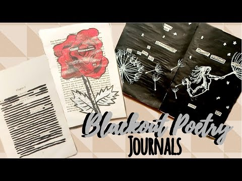 5 Ways to Create a Blackout Poetry Journal
