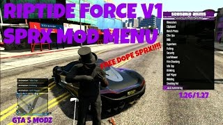 GTA5/PS3/SPRX RIPTIDE FORCE FREE MOD MENU! 1.26/1.27+DOWNLOAD