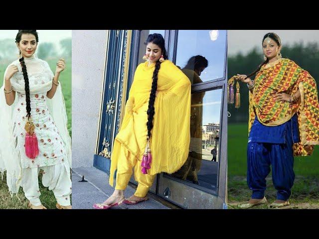 Salwar Kameez with pranda and Punjabi Jutti || Punjabi suit || Pranda || Jutti || Kaur Trends