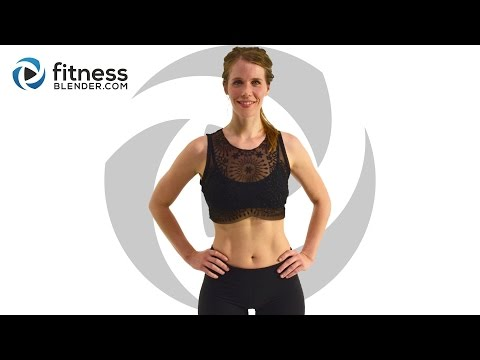 Fat Burning Cardio Bootcamp - Cardio Butt and Thigh Workout (with Low Impact Modifications)