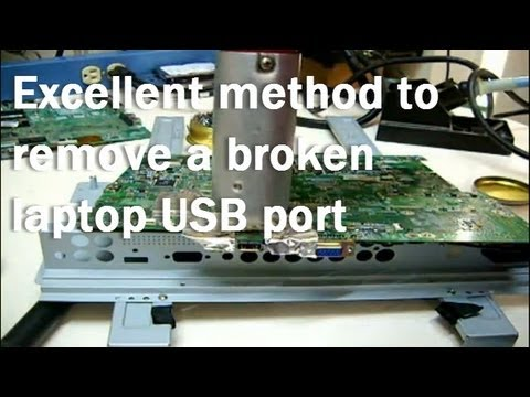 How to fix a broken USB port of a laptop or notebook