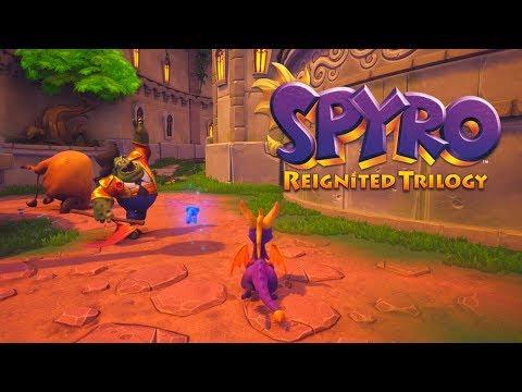Spyro Reignited Trilogy - Spyro the Dragon 120% Walkthrough Part 4 - Town Square