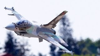 Planes & Models, Giant RC jet, Israeli Air Force F-16A # 107.