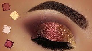 Burgundy Semi Cut Crease Makeup Tutorial | Melissa Samways