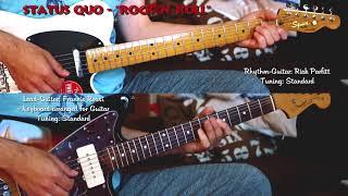 "STATUS QUO - ""Rock 'N' Roll"" for Lead- & Rhythm-Guitar (Francis Rossi, Rick Parfitt) Cover"