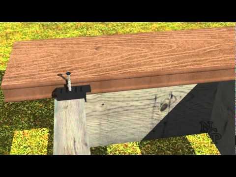 bws terrassen verlege system verdeckt hidden deck fas doovi. Black Bedroom Furniture Sets. Home Design Ideas