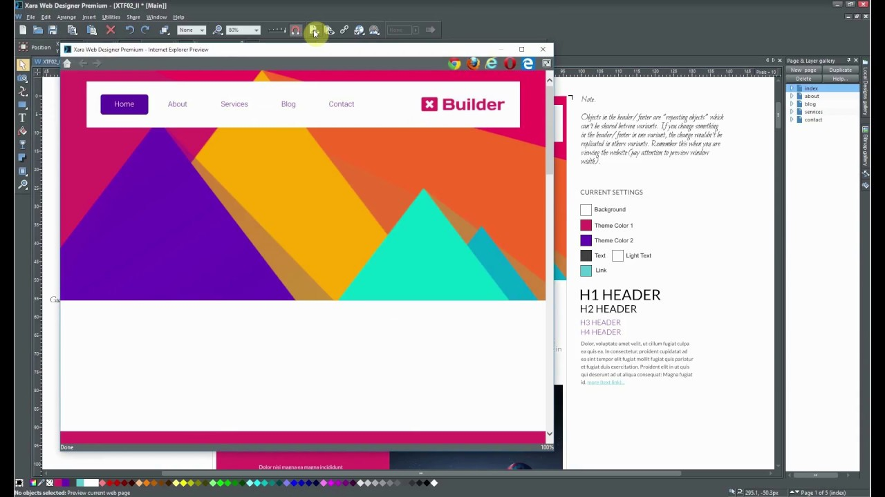 How To Set Object Animation In Xara Web Designer Youtube