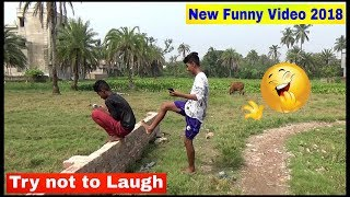 New funny😁😁comedy video 2018 Episode-1 || Funny Bazaar || Must watch ||