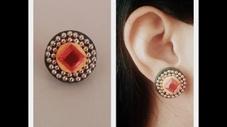 How to Make Quilling Stud Earrings/Design 13/Tutorial