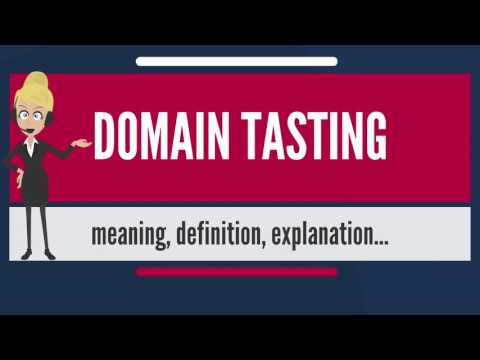 What is DOMAIN TASTING? What does DOMAIN TASTING mean? DOMAIN TASTING meaning & explanation
