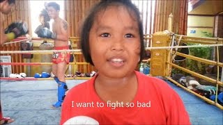 Little Girl Working on Punching Technique