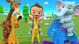 Kids Cartoon Funny Video - Funny Elephant Assemble Wooden Elephant Toy - Baby Play Children Toys 3D