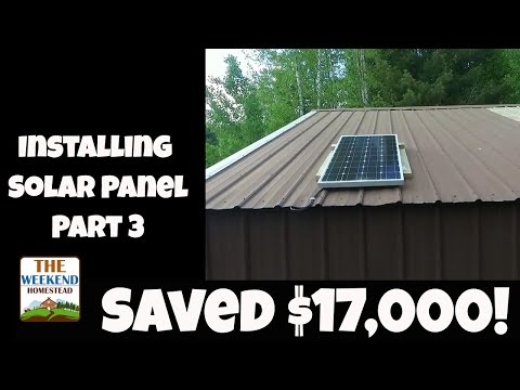 Off grid Mini-Solar Panel Systems for Utility Buildings ~ Step 3 - Panels