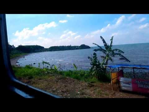 pantai batang dari kereta Tawang Jaya (Semarang-Jakarta)