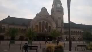 необычная станция метро в городе Metz, Франция