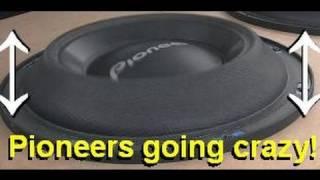 x2 Pioneer SPL Subwoofers - CRAZY bass & flex
