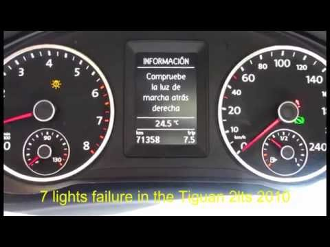 VOLKSWAGEN TIGUAN LIGHT FAILURE / FALLAS DE LUCES - YouTube
