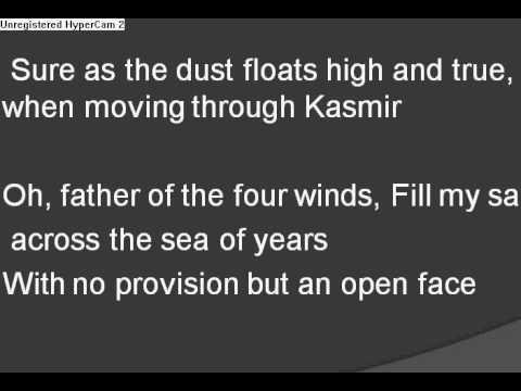 Kashmir by Led zeppelin lyrics