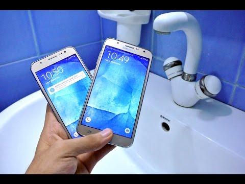 Samsung Galaxy J7 vs J5 - Water Test HD