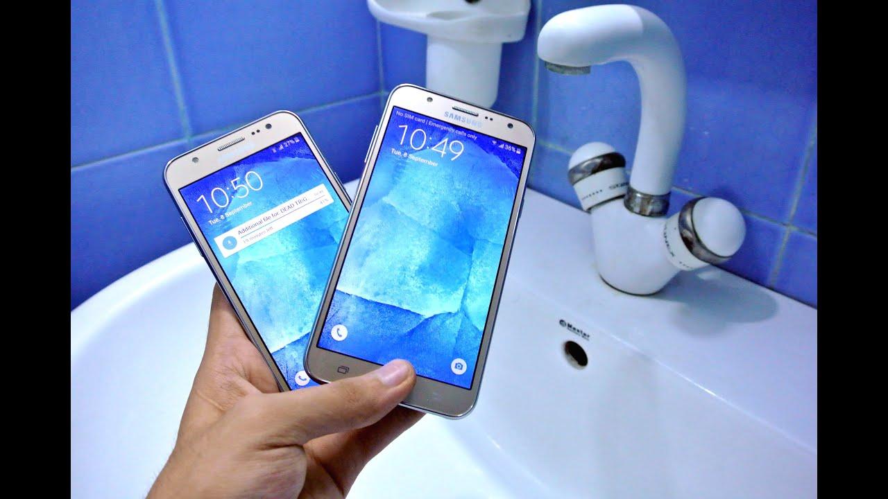 super popular 2d6ad 7cf02 Samsung Galaxy J7 vs J5 - Water Test HD