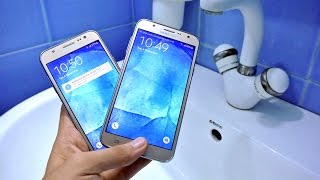 Samsung Galaxy J7 vs J5 - Water Test HD