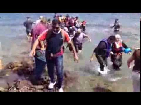 REFUGEES ARRIVING IN LESVOS GREECE AUG 24, 2015