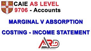 AS Level - Marginal v Absorption Income Statements - Concepts | Urdu / Hindi