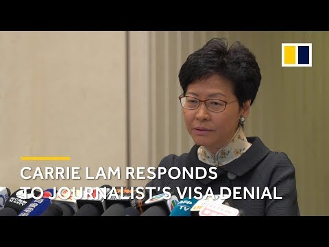 Carrie Lam responds to denial of visa for Victor Mallet, British journalist at Financial Times