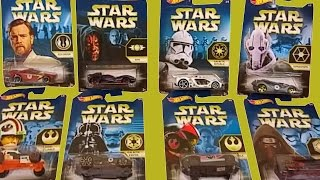 STAR WARS THE FORCE AWAKENS HOT WHEELS CARS KYLO REN DARTH VADER LUKE SKYWALKER CAR