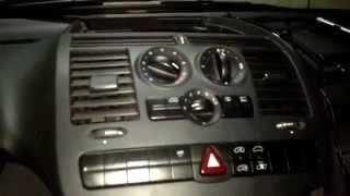 Піч, вентилятор, резистор, перемикач і панель клімату на Mercedes-Benz Vito 639 (111).