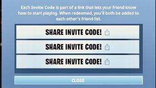 CODES D'INVITATION GRATUITS POUR FORTNITE