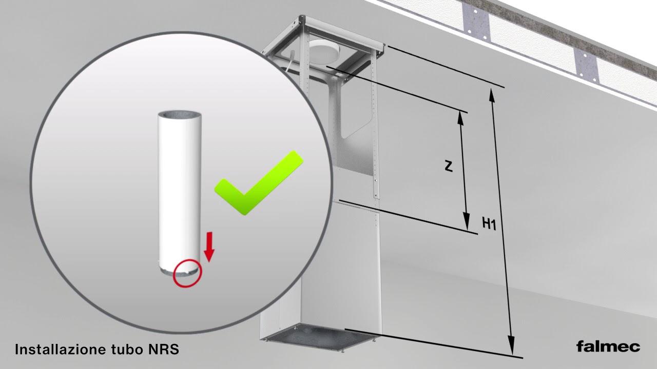 Falmec - Guida all\'installazione - Cappe NRS Isola - YouTube