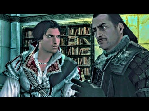 Uncle Mario Tells Ezio About Codex Written by Altair (Assassin