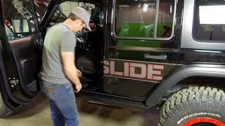 Installation of the RSE Step Slider on a Jeep Wrangler JL