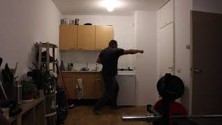Martial arts Power punches from the side 4